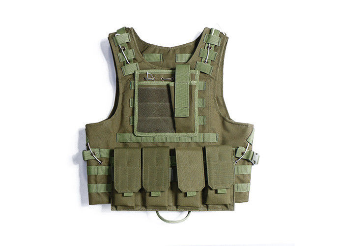 Military Combat Load Bearing Vest Double Sewing Line With Adjustable Waist