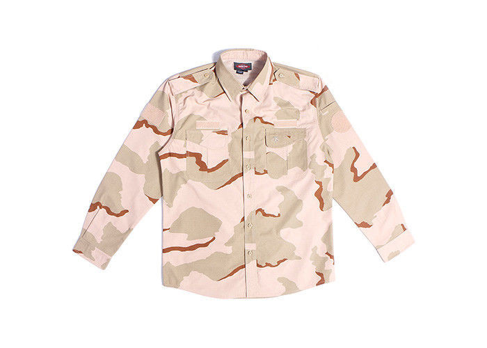 Waterproof Desert Camo Tactical Combat Uniform 3 Color Scratch Resistant